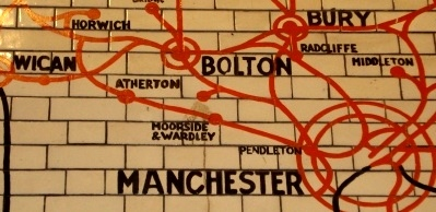 L&Y Tiled Route Map Showing Atherton Line.