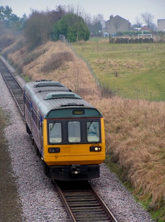 Pacer running west across Hart Common on 14 Feb 2009.