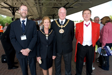 Peter Aust with the Mayor and Mayoress of Salford.