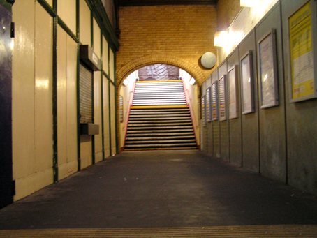 The station hallway in 2007.