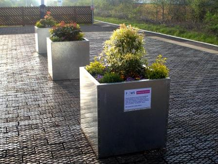 New planters on Walkden station