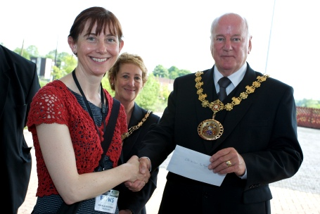 FOWS present a cheque to the Mayor's charity.