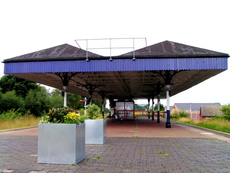 The station canopy after repainting in summer 2008.
