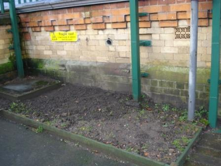 West end of Manchester platform at Walkden before FOWS built a flower bed.