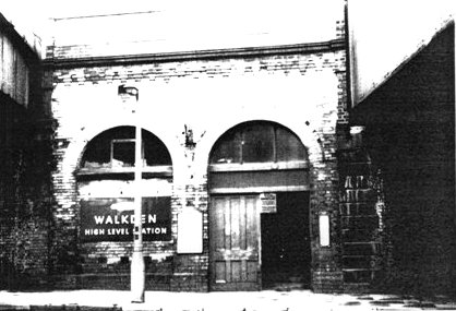 The station entrance in 1972 (by kind permission of Tom Wray).